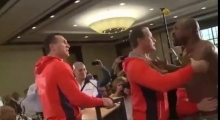 Shannon Briggs disrupts Wladimir Klitschko vs Alex Leapai press conference