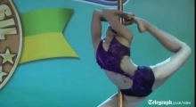 Pole dancers impress at world cup in Brazil