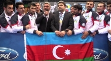 Interview to Azerbaijan Team Male Kumite. European Champions. 49th European Karate Championships