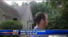 Georgia man survives after lightning strike blows him out of his shoes