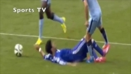Diego Costa Fight & Pablo Zabaleta RED Card Manchester City vs Chelsea 1-1  21/09/2014