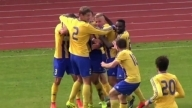 EPIC team celebration as Ventspils players pose for photo after goal vs Liepaja 2014