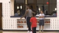 LeBron James: 10 Year old Son Hits One Handed Half Court Shot