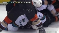 Anaheim Ducks vs San Jose Sharks Brawl (10/26/14)