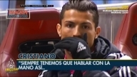 Cristiano Ronaldo don't want to talk with television