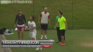 Maria Sharapova Shows Off Her Football/Soccer Skills At Wimbledon