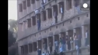 India cheating scandal exposed: Parents climbing walls to help students cheat in India