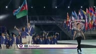 Azerbaijan Athletes enter the Stadium | Opening Ceremony | Baku 2015 European Games