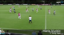 Haris Vuckic solo goal for Newcastle against 'Jong' Ajax