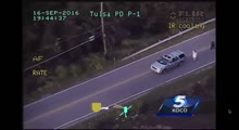 GRAPHIC VIDEO- Helicopter video of deadly Tulsa police shooting