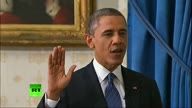 Barack Obama takes oath of office for second t