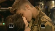 Justin Bieber French Kissing