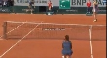 Serena Williams wins Roland Garros 2013 against Sharapova  End of the match and celebration