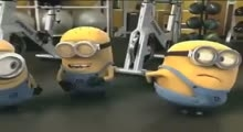 Minions In gym All 3 parts HD