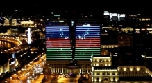 Earth Hour 2014 Azerbaijan Hilton Baku Switch-Off